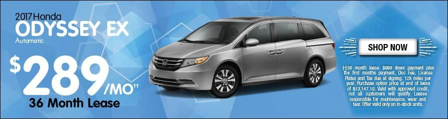 Lease Honda Odyssey EX $289/mo