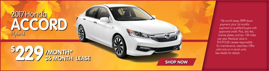 Lease Accord Hybrid $229