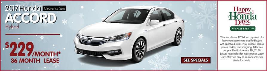 Lease 2017 Honda Accord Hybrid $229