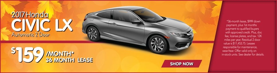 New honda car specials elgin brilliance honda for Honda civic lease offers