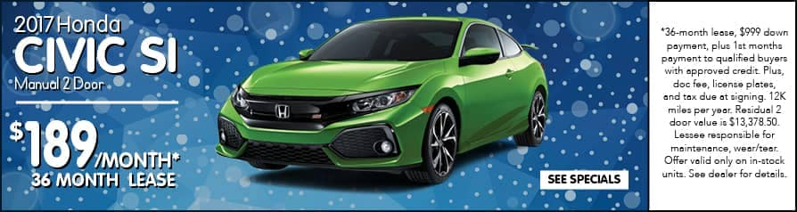 2017 Civic SI $189/month