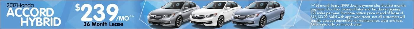 Lease Honda Accord Hybrid $239