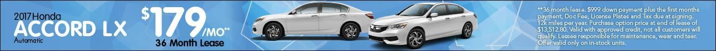 Lease Honda Accord LX $179