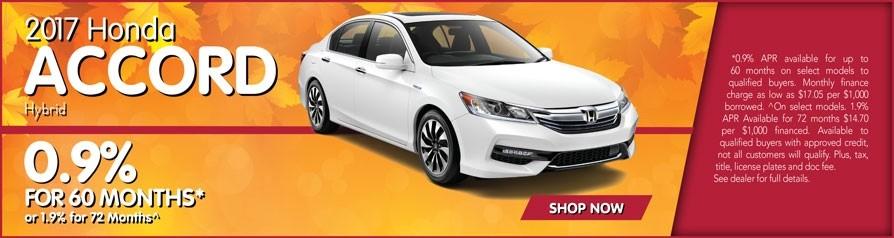 0.9% APR for Honda Accord Hybrid