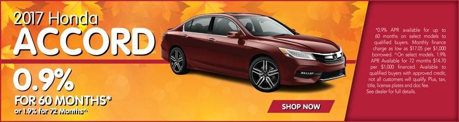 0.9% APR for Honda Accord