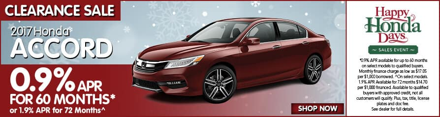 2017 Accord for 0.9% APR