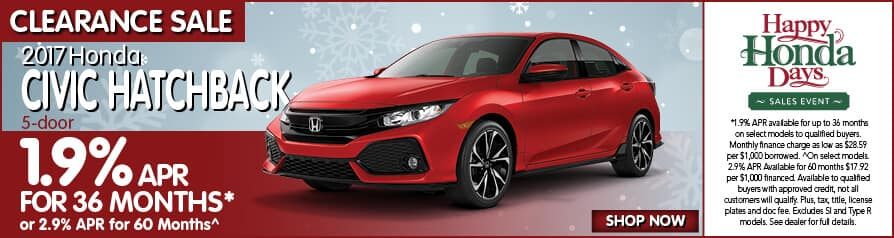 2017 Civic Hatchback 0.9% APR