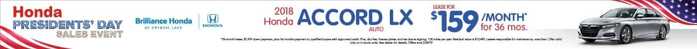 Accord LX Lease $159/mo