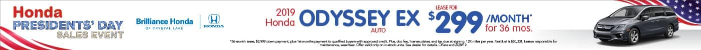 Odyssey EX Lease $299/mo