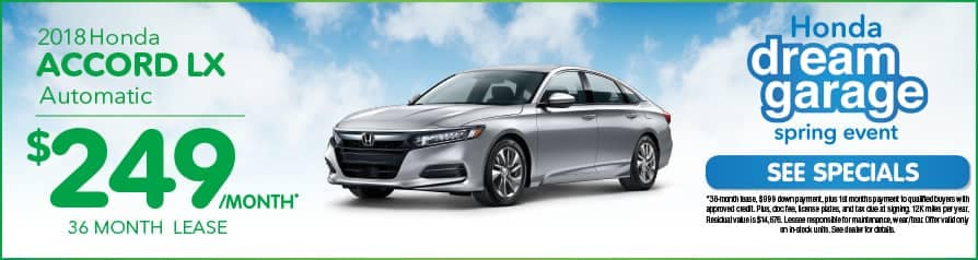 Lease Accord LX $249 special