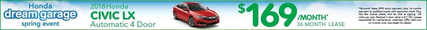 Lease Civic LX $169 special
