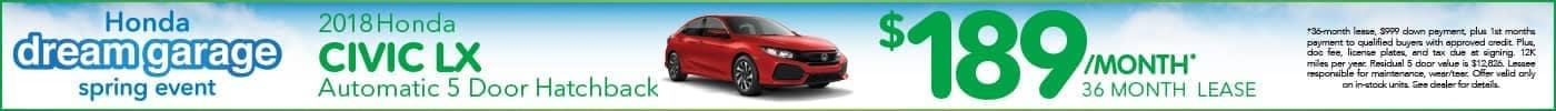 Lease Honda Civic 4-Door $189