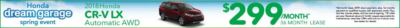 Lease Honda CR-V $299