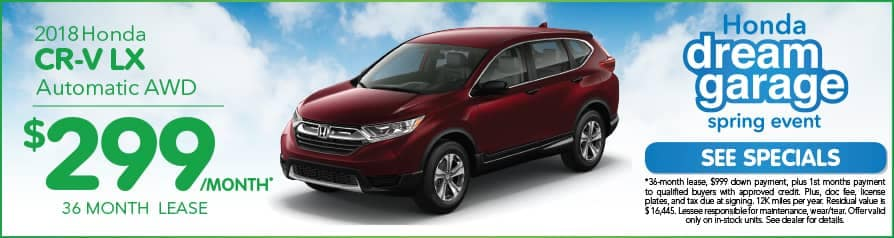 Lease CR-V $299 special