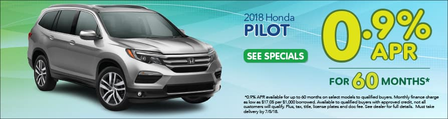 2018 Honda Pilot Special Offer - June