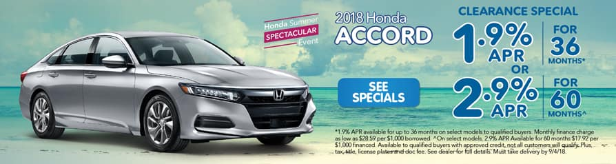 2018 Honda Accord Clearance Special