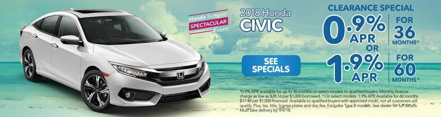 2018 Honda Civic Clearance Special