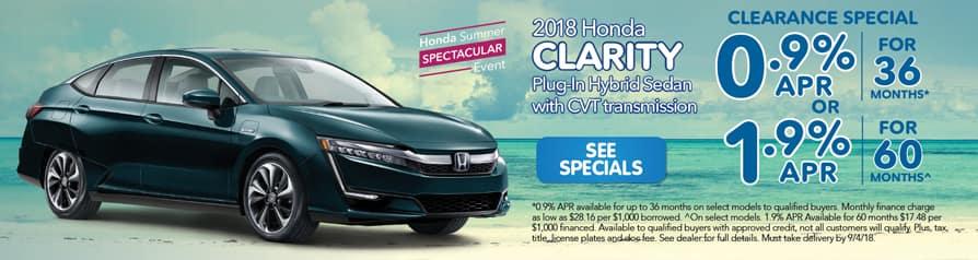 2018 Honda Clarity Clearance Special