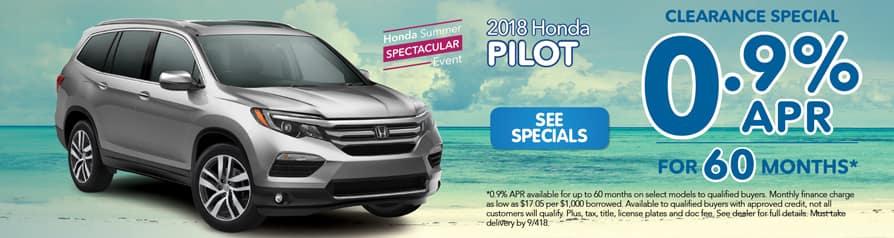 2018 Honda Pilot Clearance Special