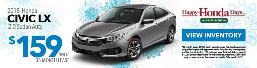 Lease Civic LX for $159