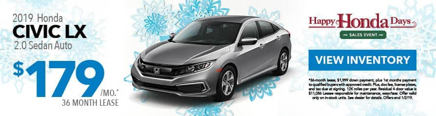 Lease Civic LX for $179