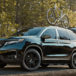 2019 Honda Pilot with a Bike Rack