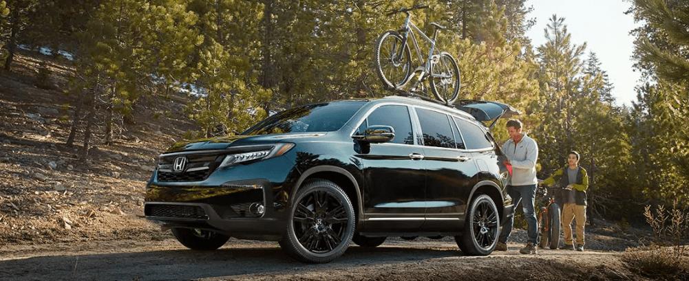 2019 Honda Pilot with a Bike Rack