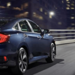 2019 Honda Civic Driving at Night