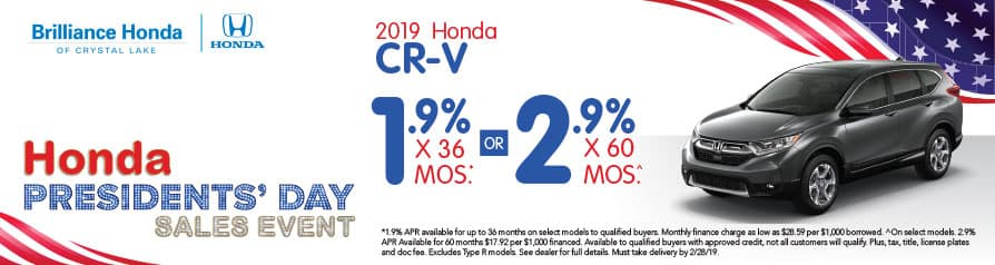 2019 Honda CR-V APR offer