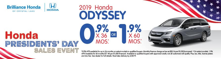 2019 Honda Odyssey APR offer