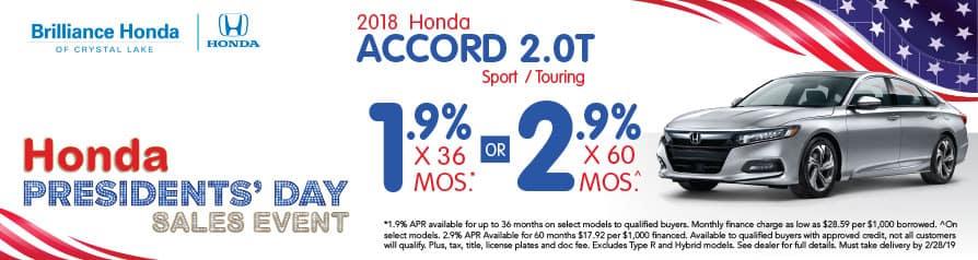 2018 Honda Accord 2.0T APR offer