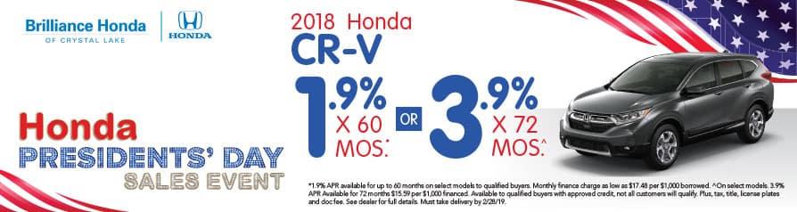 2018 Honda CR-V APR offer