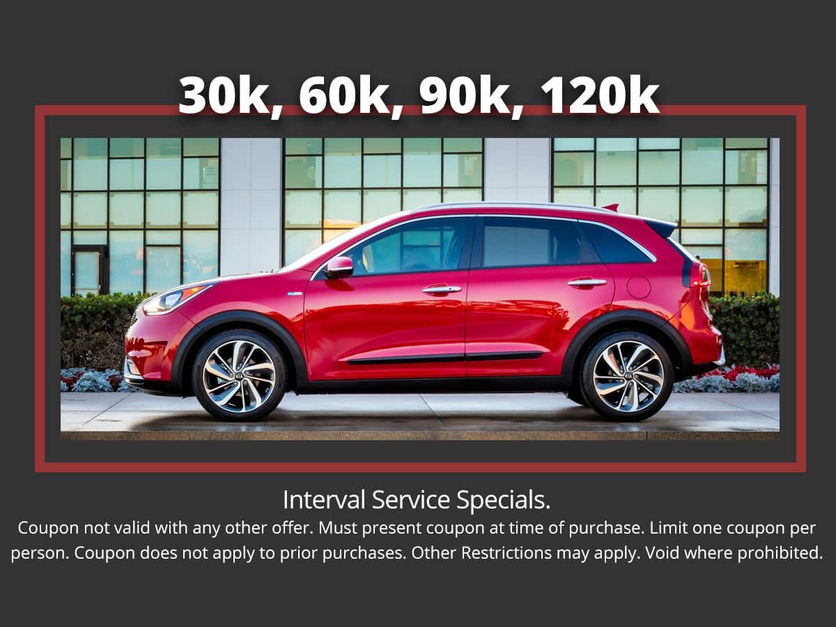 Kia 30k 60k 90k 120k Interval Service Special