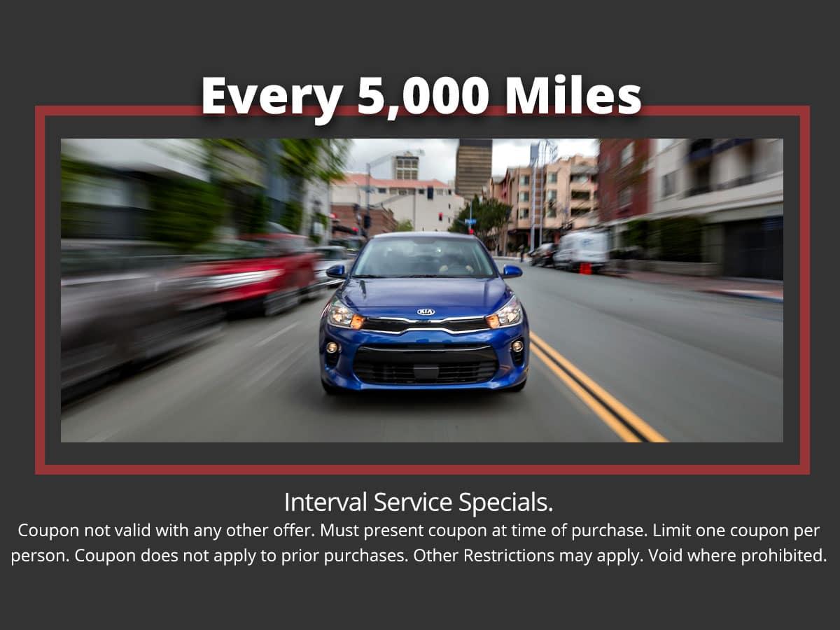 Kia 5,000 Mile Interval Service