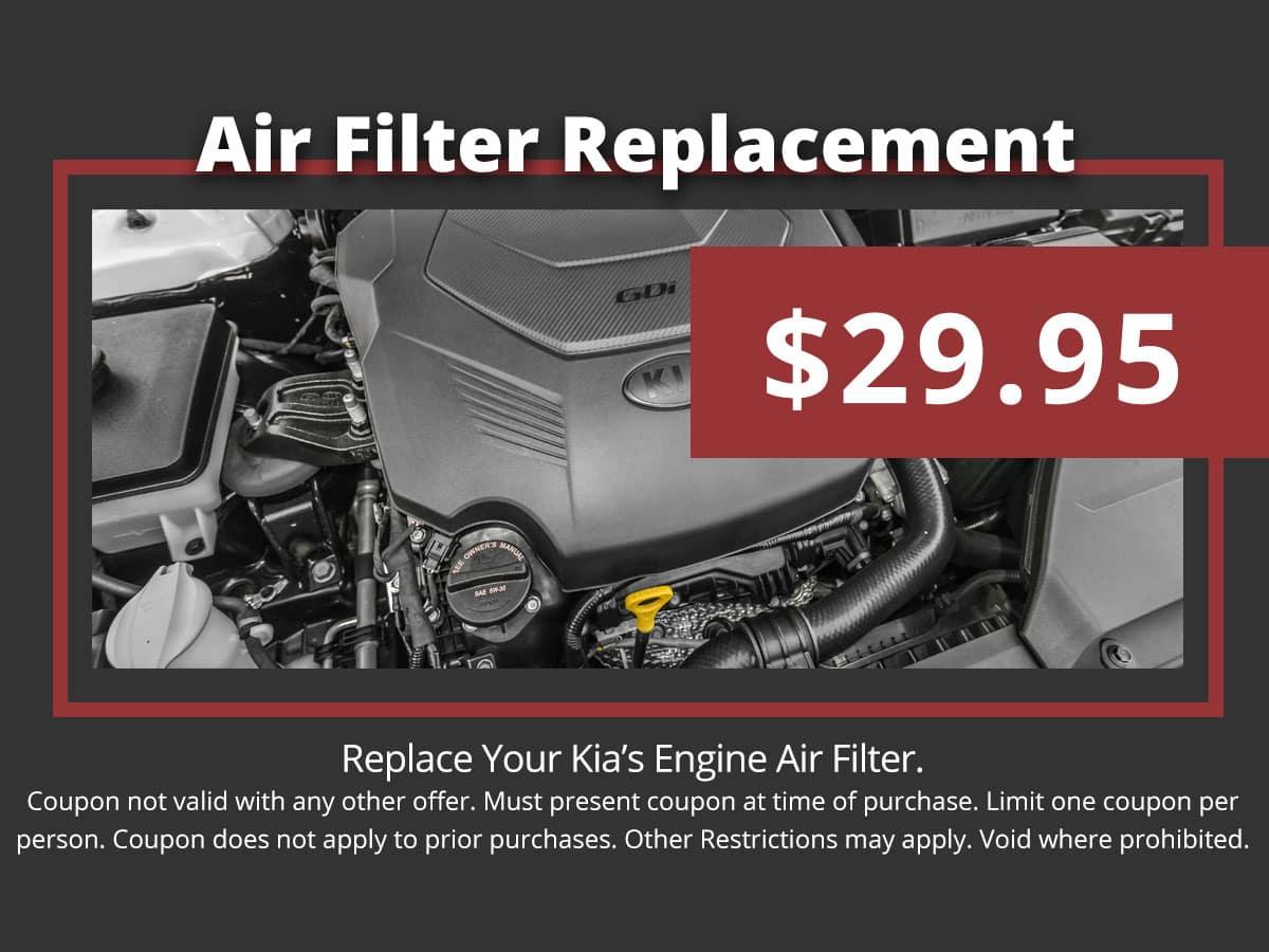 Kia Air Filter Special