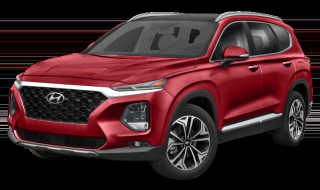 Red 2019 Hyundai Sante Fe