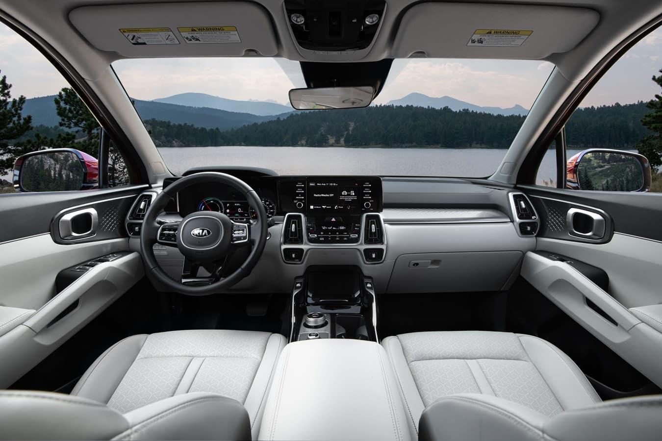 Upscale Interior of a Kia Sorento Hybrid