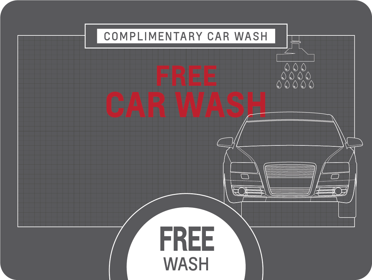 Complimentary Car Wash Service Special Coupon