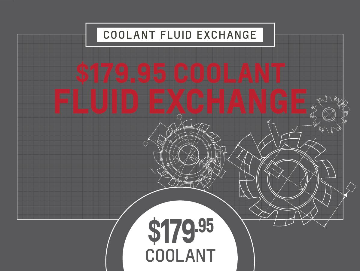 Coolant Fluid Exchange Service Special Coupon