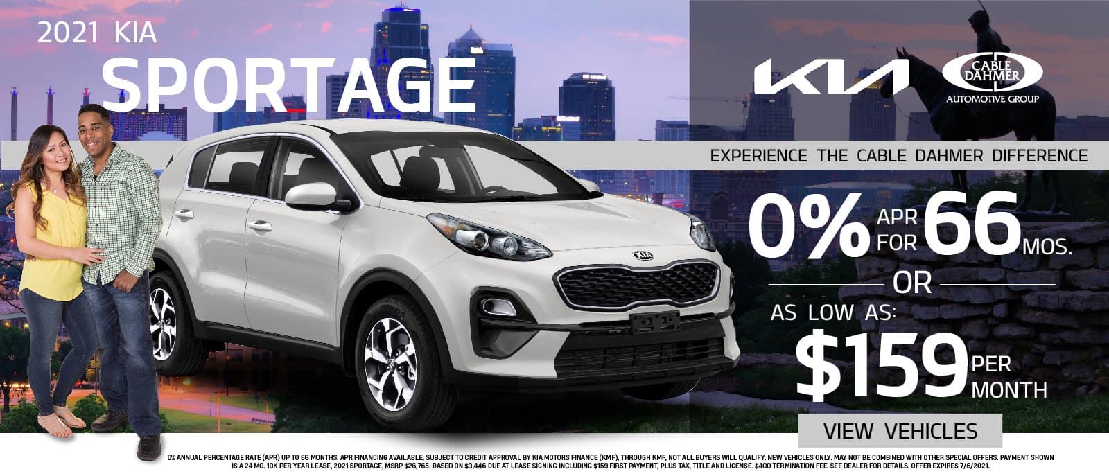 2021 Kia Sportage Lease Offer – June