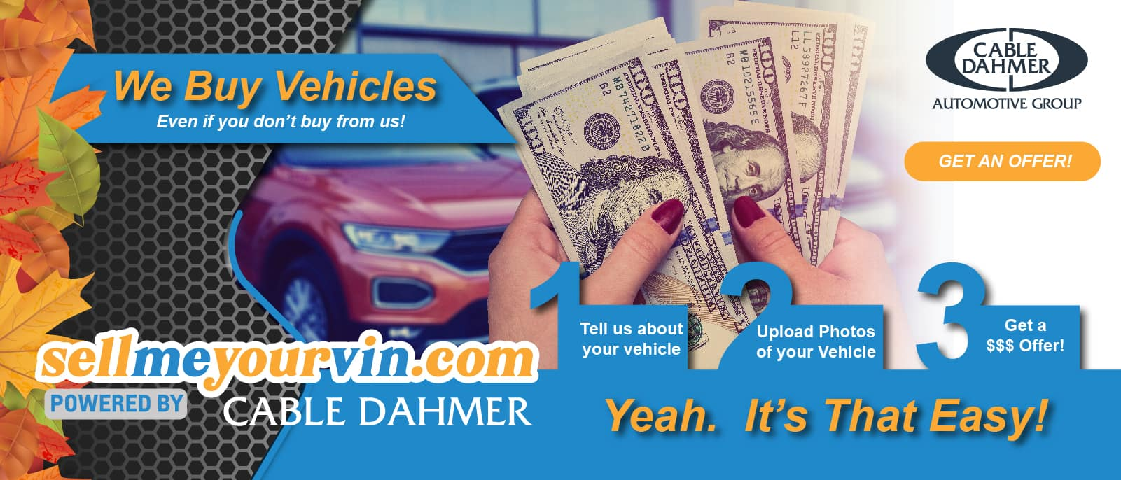Cable Dahmer – Marketing-New website Rotators – fall – ALL_Website Rotator – Sell me your vin