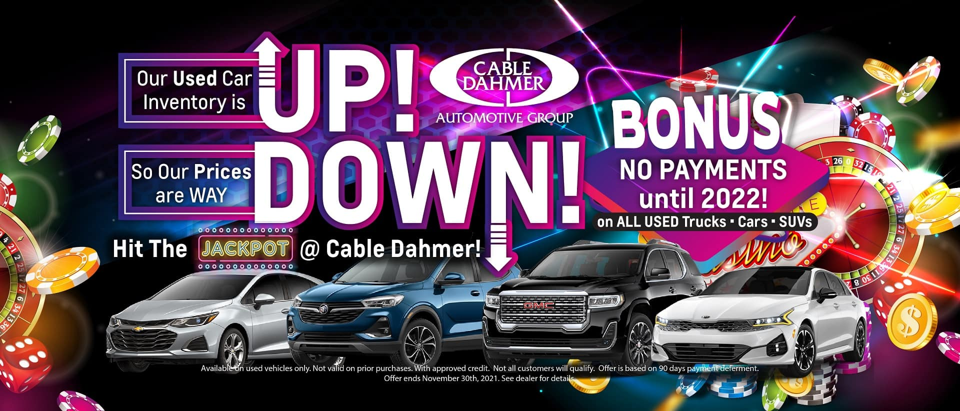 Cable Dahmer – Used Cars no payment-jackpot_Website Rotator resized