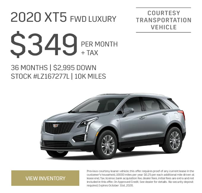 2020 Cadillac XT5 FWD Special