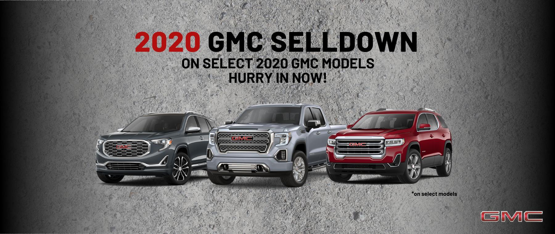 2020 GMC Selldown