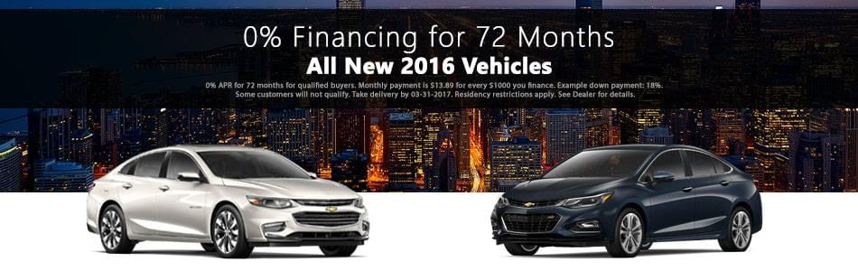 Chevy- 0% Financing 2016 Models