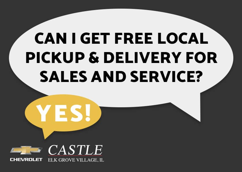 Free Local Pick Up and Delivery for Sales & Service