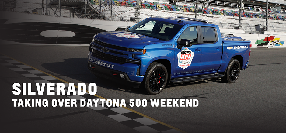 Chevys Lincoln Ne >> First Ever Chevy Silverado Pace Truck Leads Daytona 500 Castle