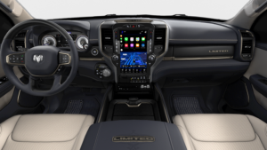 2019 RAM 1500 CREW CAB BOX interior in Indigo Frost