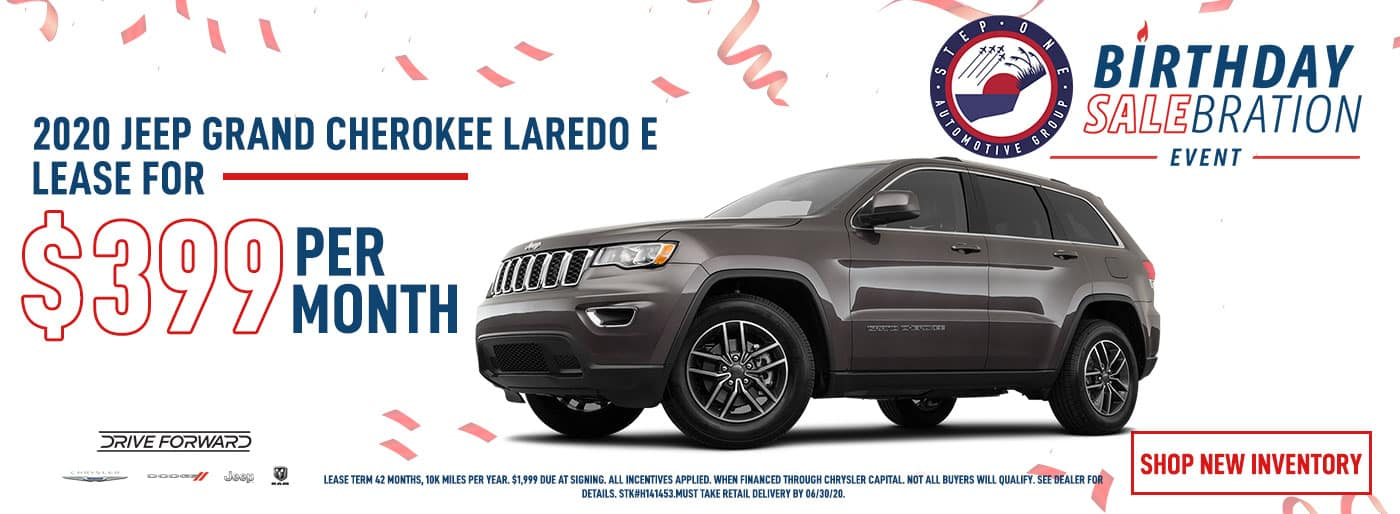 2020 Jeep Grand Cherokee Lease for $399 Per Month