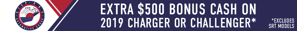 Extra $500 Bonus Cash on Charger and Challenger
